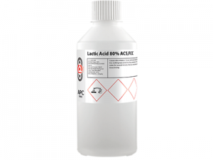For usein the laboratory as an alkalinizing agent and alsoas a reagent in organic synthesis. Lactic Acid AR, 500ml