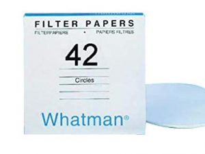 Whatman Quantitative Filter Paper Grade 42.