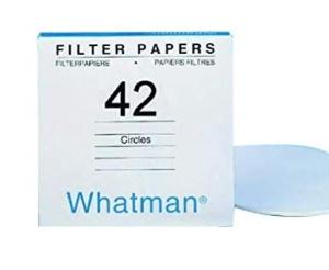 Whatman Quantitative Filter Paper Grade 42.